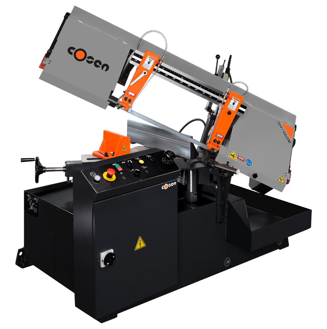 Semi-Automatic Horizontal Band Sawing Machines By Cosen Saws | SH-460M | MH-460M | Industry Saw & Machinery Sales