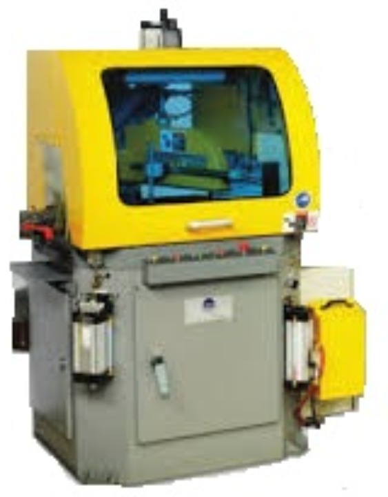 Semi automatic operated circular sawing machine for cutting aluminum extrusions or profiles quickly and accurately | Industry Saw & Machinery Sales